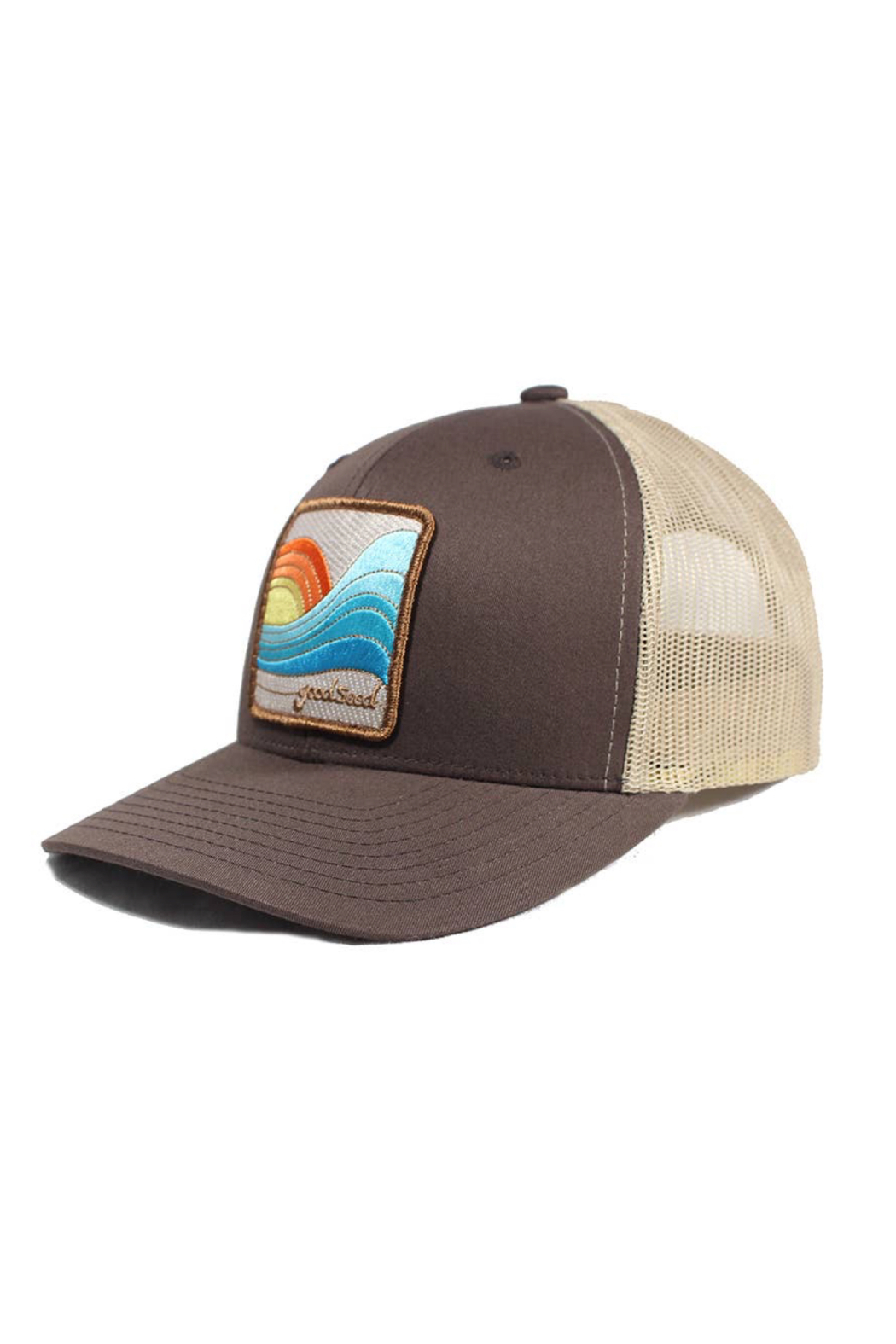 Goodseed Clothing Last Wave Trucker Hat - Back Cropped Image