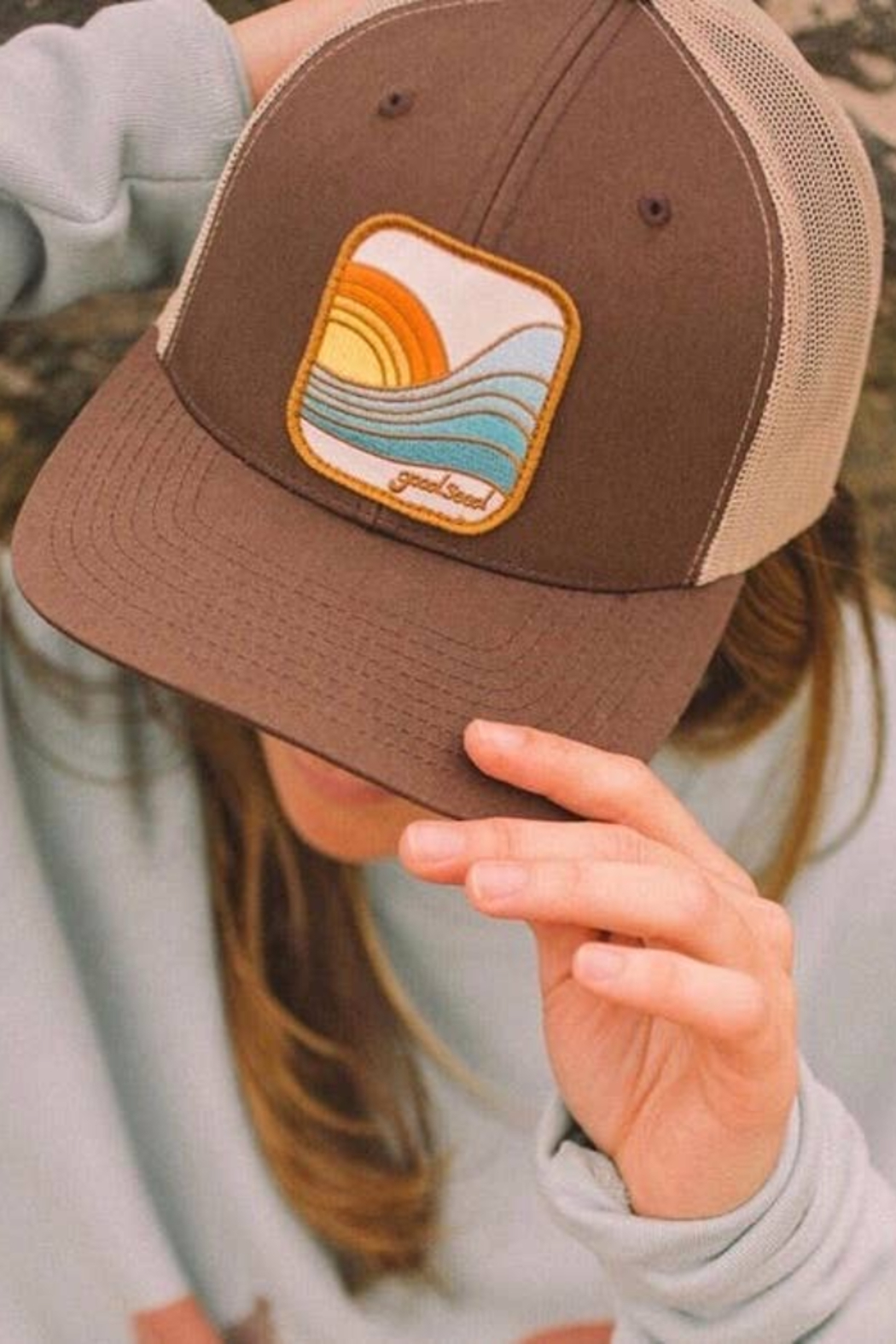 Goodseed Clothing Last Wave Trucker Hat - Front Cropped Image