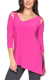 Last Tango Asymmetrical 3/4sleeve Top - Front full body