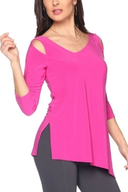 Last Tango Asymmetrical 3/4sleeve Top - Front cropped
