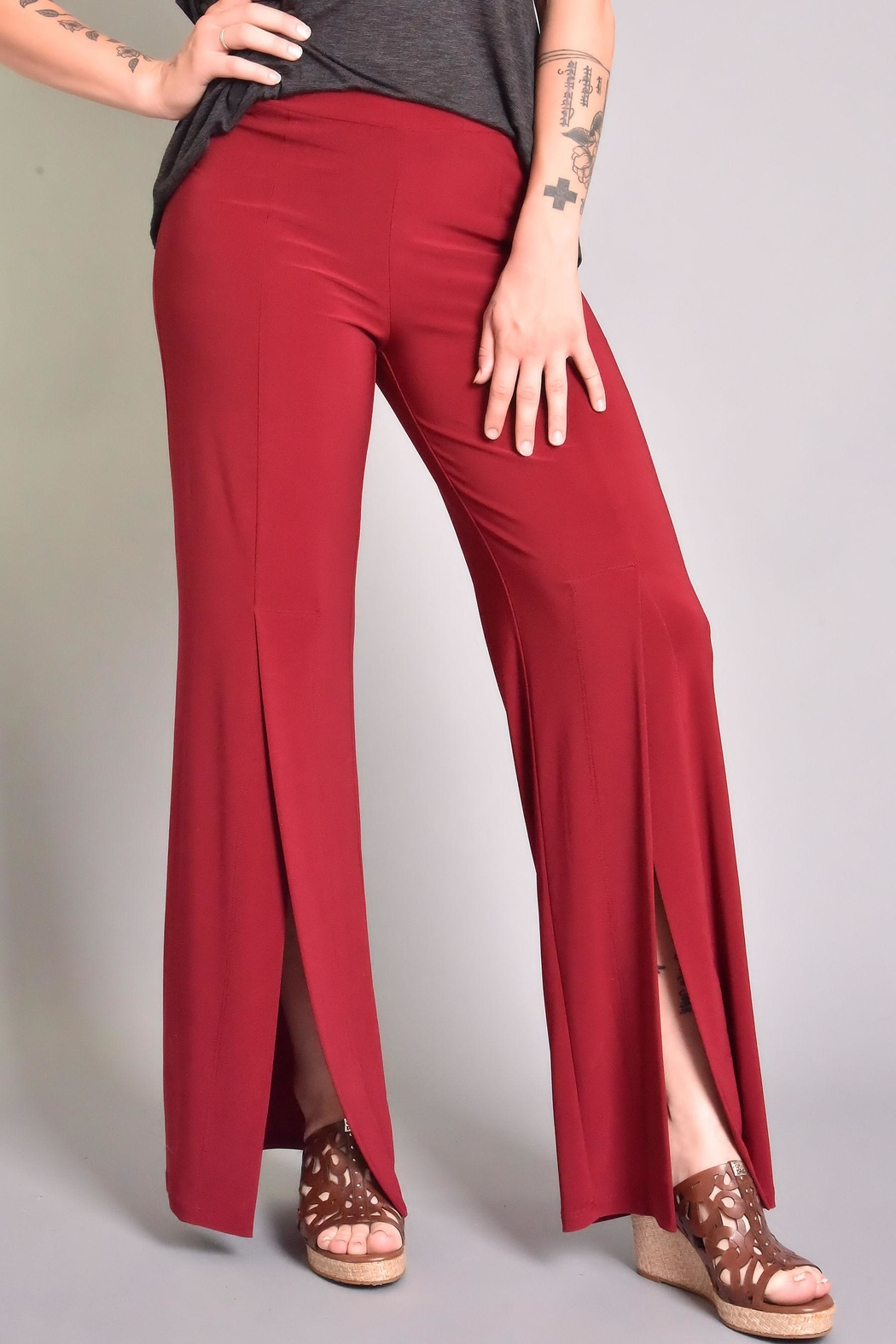 Last Tango Front Slit Pant - Front Cropped Image