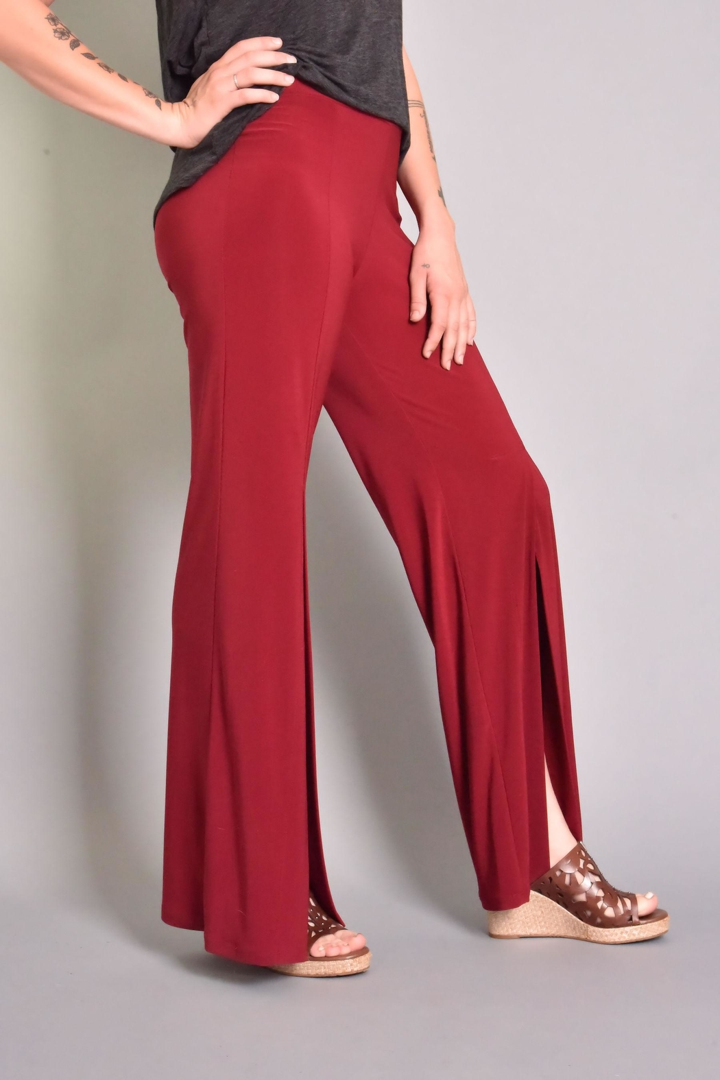 Last Tango Front Slit Pant - Front Full Image