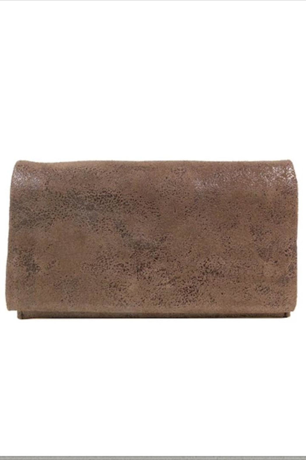 Latico Brown Shimmery Wallet - Main Image