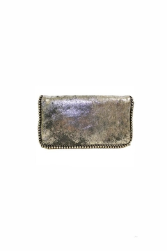 Latico Shiny-Silver Beaded-Boarder Wallet - Alternate List Image