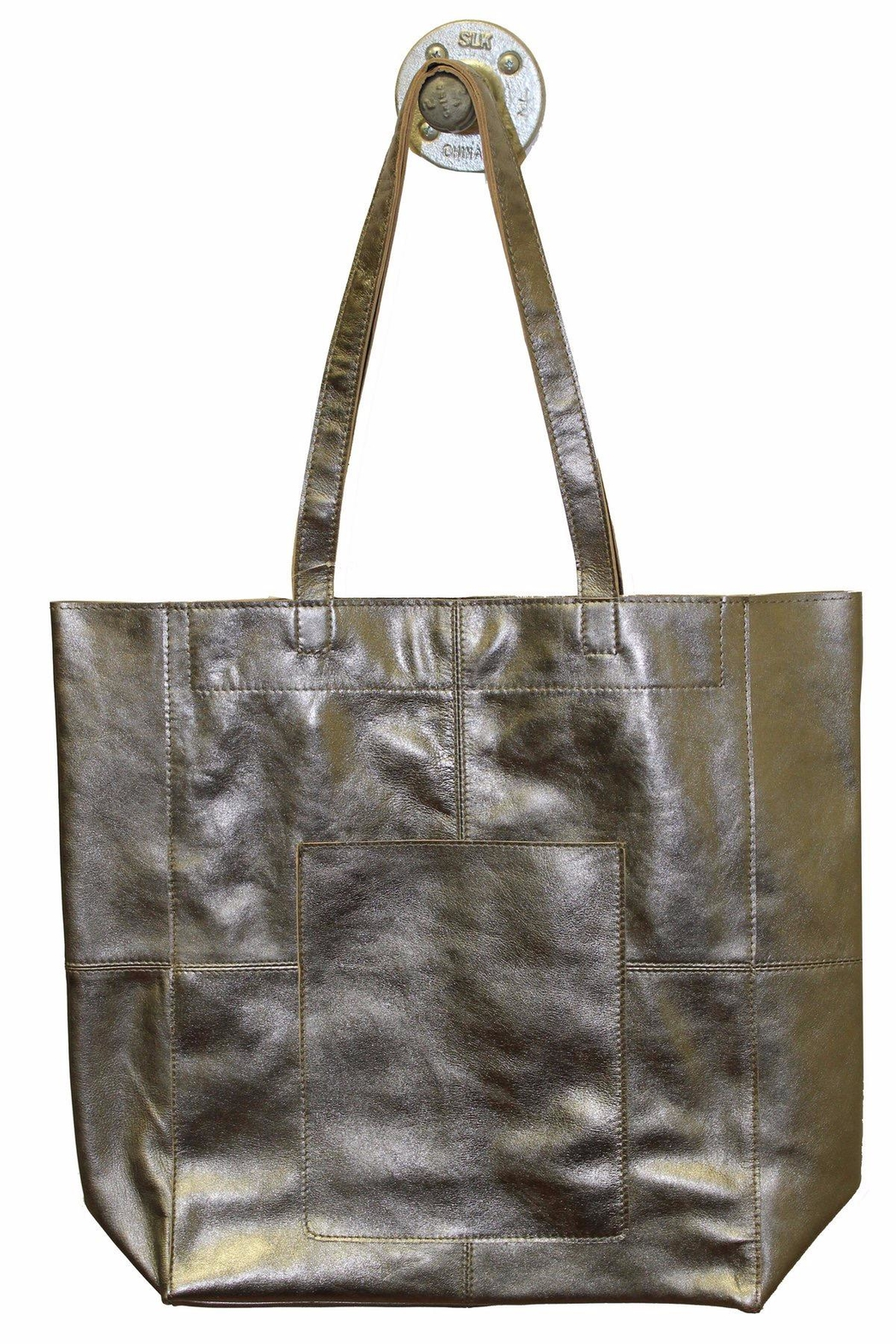 Latico Leathers Amelia Metallic-Leather Tote - Front Cropped Image
