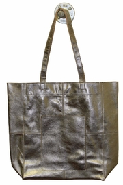 Latico Leathers Amelia Metallic-Leather Tote - Front cropped