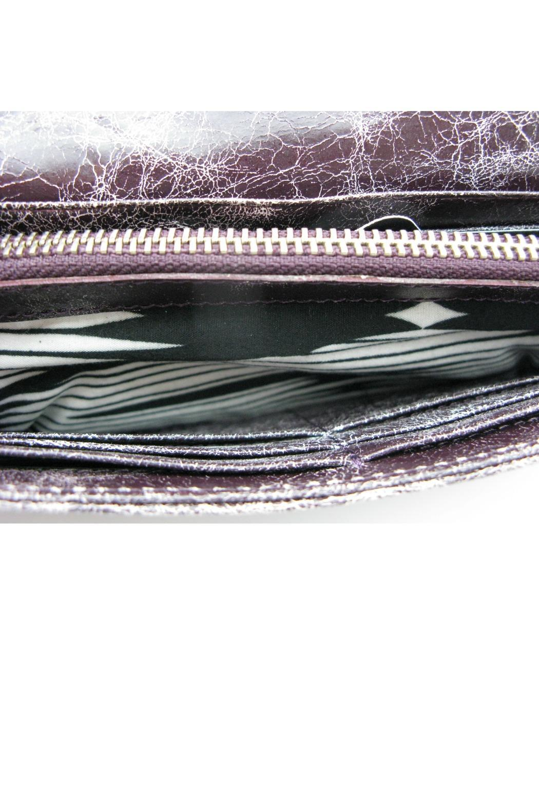 Latico Leathers Astro Purple Wallet - Side Cropped Image