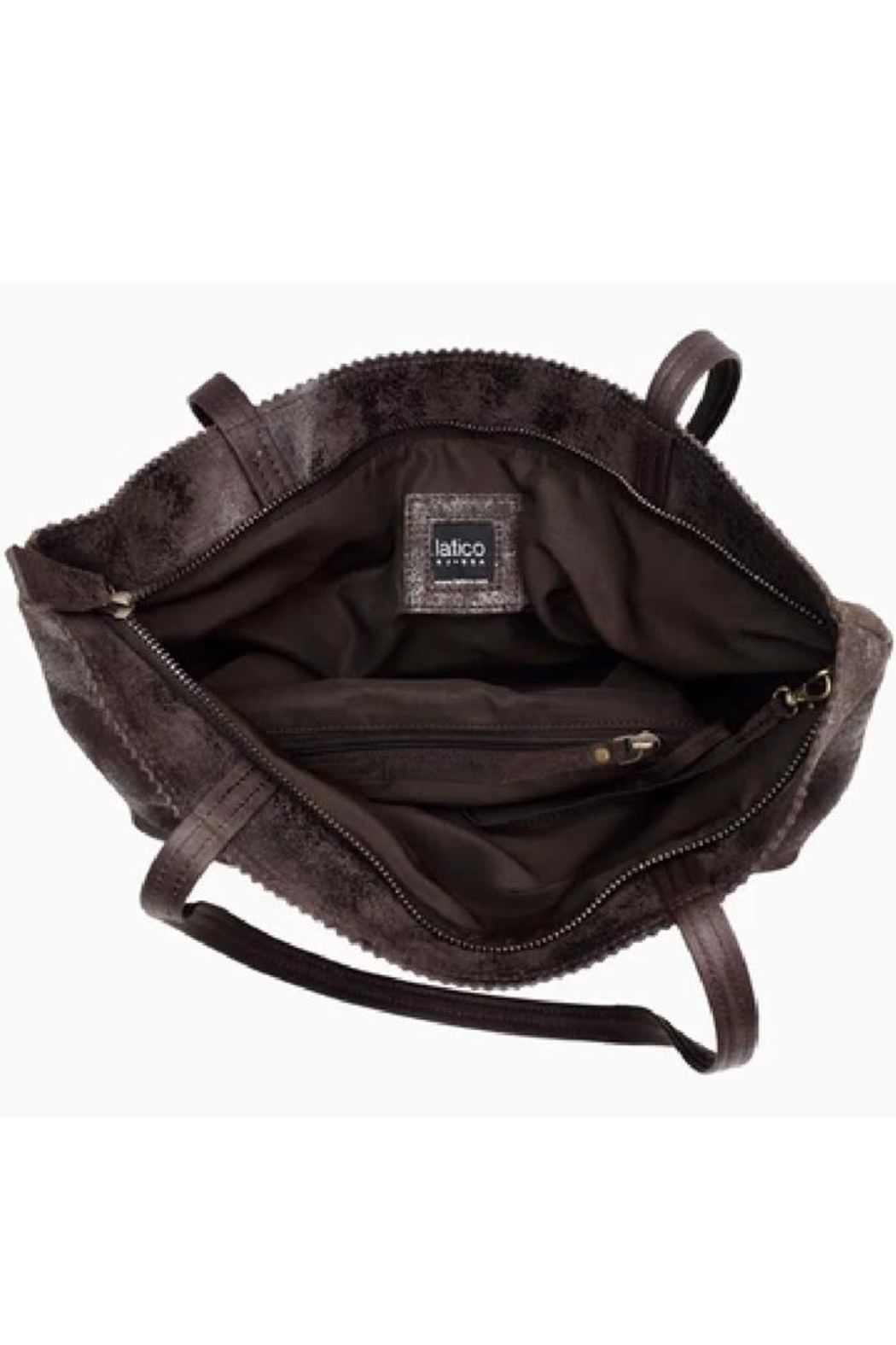 Latico Leathers Brown Metallic Leather  Tote - Front Full Image