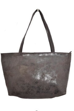 Latico Leathers Brown Metallic Leather  Tote - Product List Image