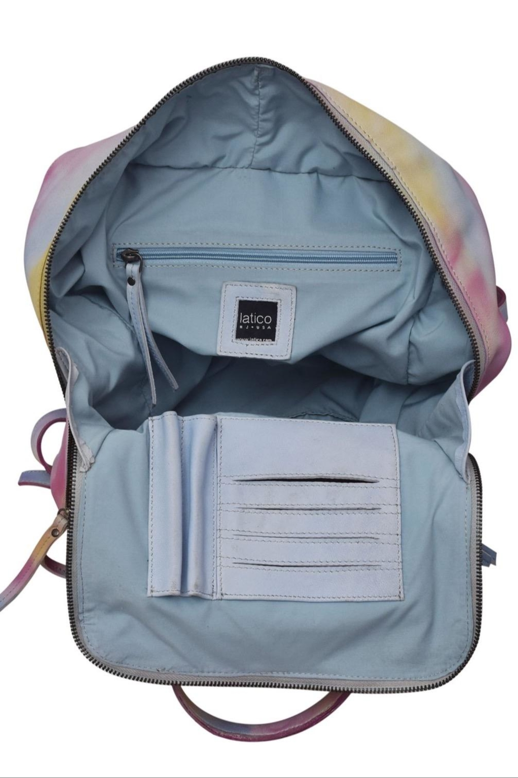 Latico Leathers Fillmore Tie-Dye Backpack - Side Cropped Image
