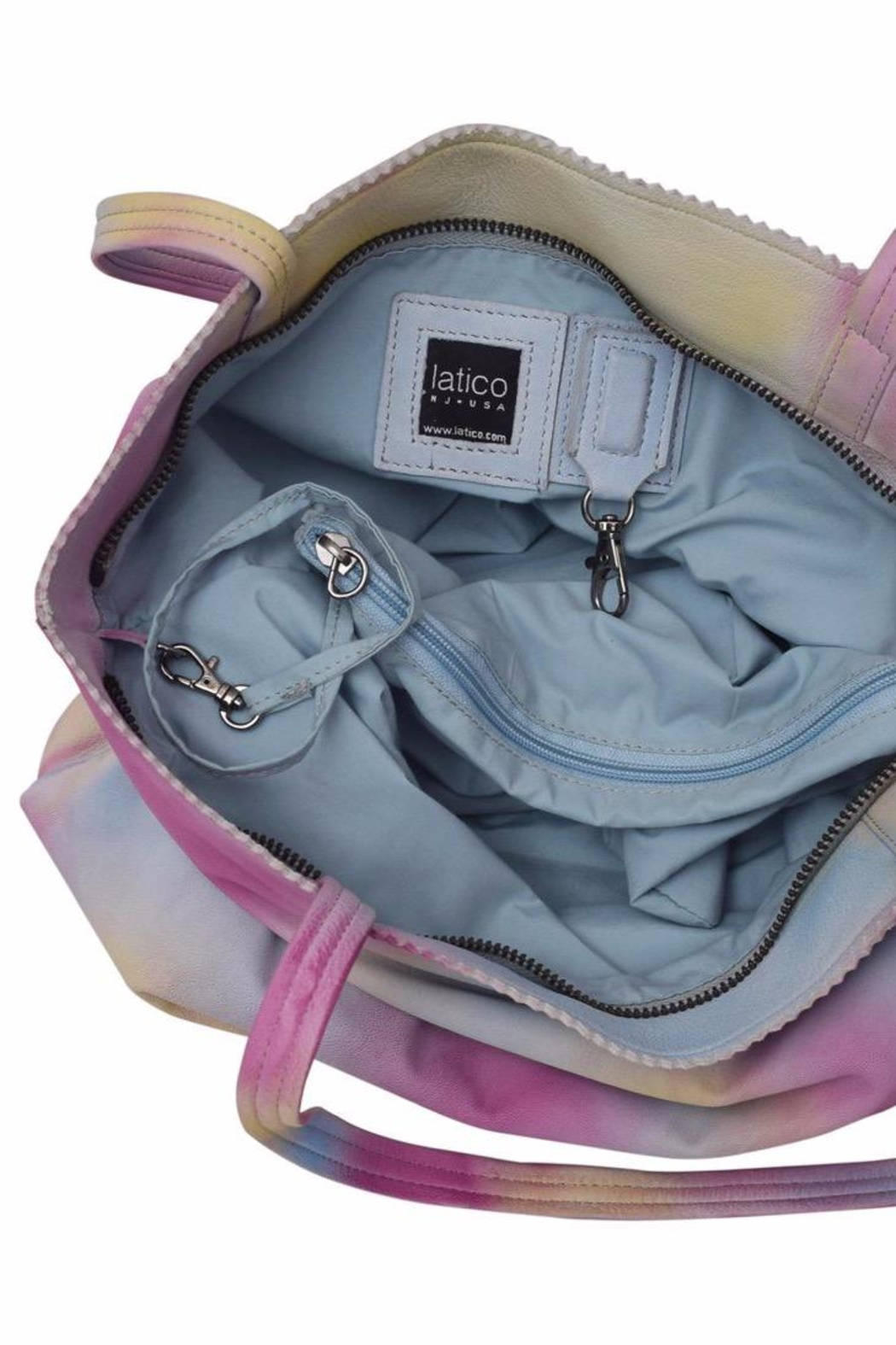 Latico Leathers Galaxy Tie-Dye Tote - Front Full Image