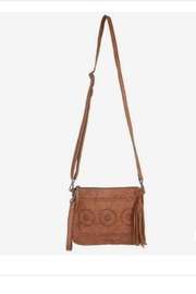 Latico Leathers Leather Embossed Cross-Body Clutch - Product Mini Image