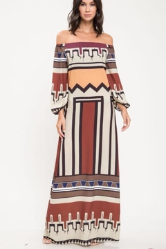 Shoptiques Product: Abstract Off-Shoulder Dress