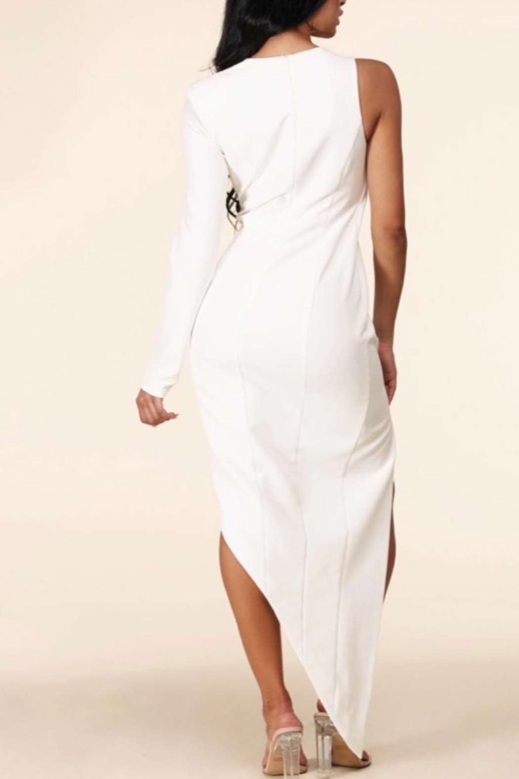 Latiste Asymmetrical Cut-Out Dress - Side Cropped Image