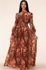 Latiste Autumn-Sunset Floral Maxi - Front cropped