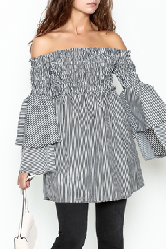 Shoptiques Product: Bell Sleeve Stripe Tunic