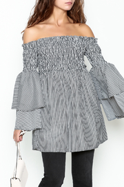Latiste Bell Sleeve Stripe Tunic - Front cropped