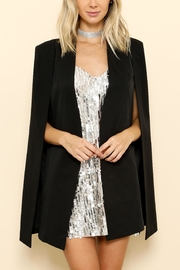 Latiste Black Cape Blazer - Product Mini Image