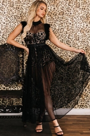 Latiste Black Leopard Dress - Front full body