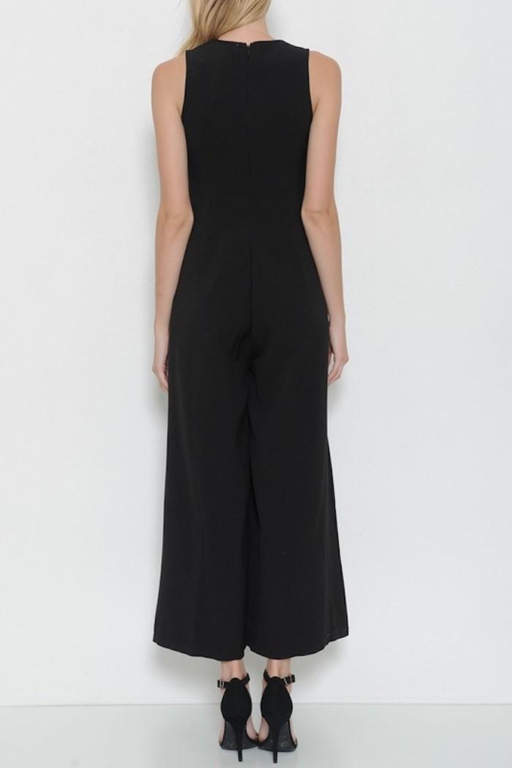 Latiste Black Pin Jumpsuit - Front Full Image