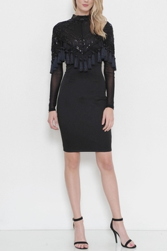 Shoptiques Product: Black Tassel Dress