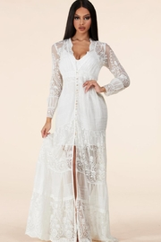 Latiste Button-Down Lace Maxi - Product Mini Image