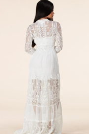 Latiste Button-Down Lace Maxi - Back cropped