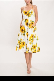 Latiste Button-Down Sunflower Dress - Product Mini Image
