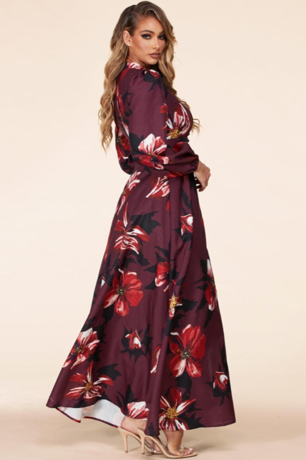 Latiste Button-Up Floral Dress - Side Cropped Image