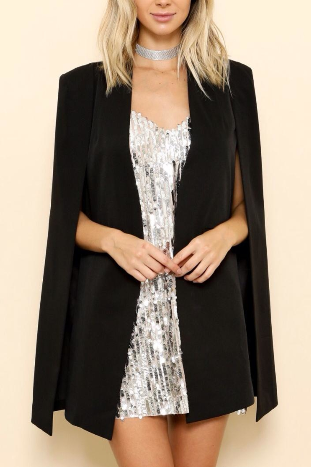 Latiste Cape Blazer - Front Cropped Image