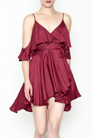 Latiste Satin Ruffle Dress - Product Mini Image