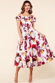 Latiste Cold-Shoulder Floral Dress - Product Mini Image