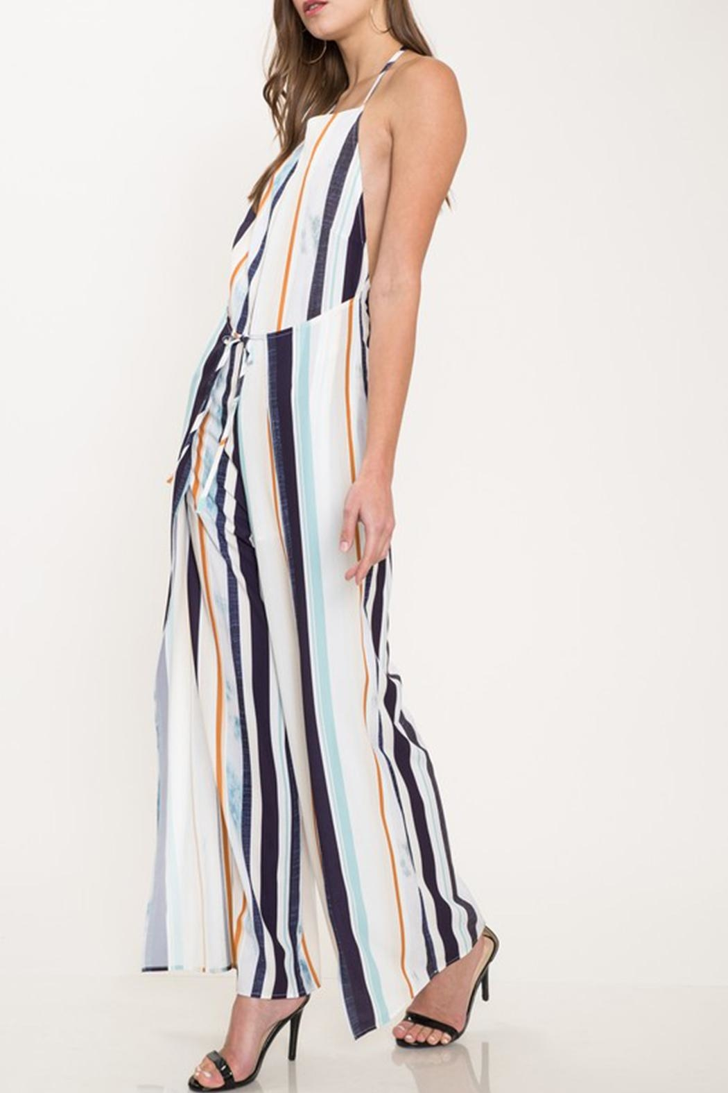 Latiste Colorful Stripe Jumpsuit - Side Cropped Image