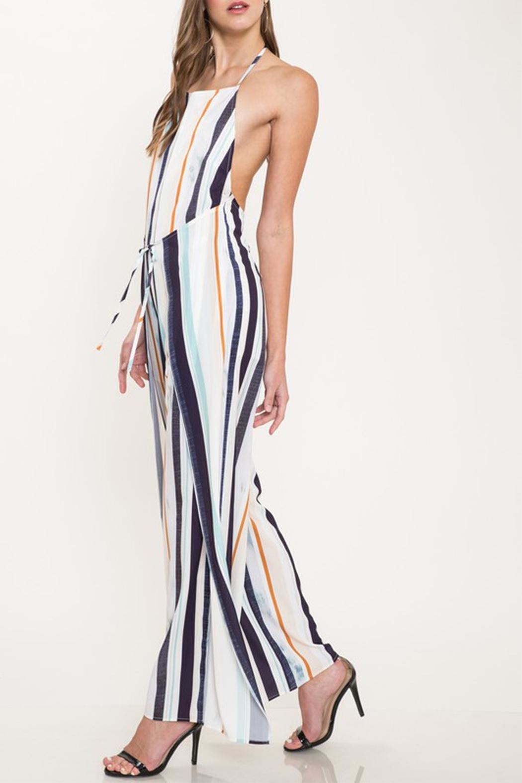 Latiste Colorful Stripe Jumpsuit - Front Full Image