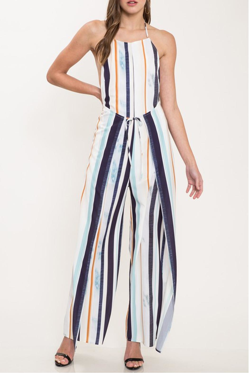 Latiste Colorful Stripe Jumpsuit - Front Cropped Image
