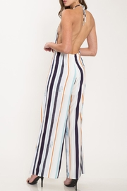 Latiste Colorful Stripe Jumpsuit - Back cropped