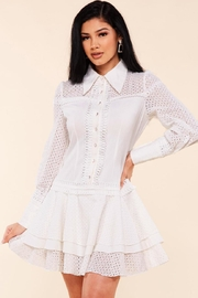 Latiste Cotton Eyelet Dress - Product Mini Image