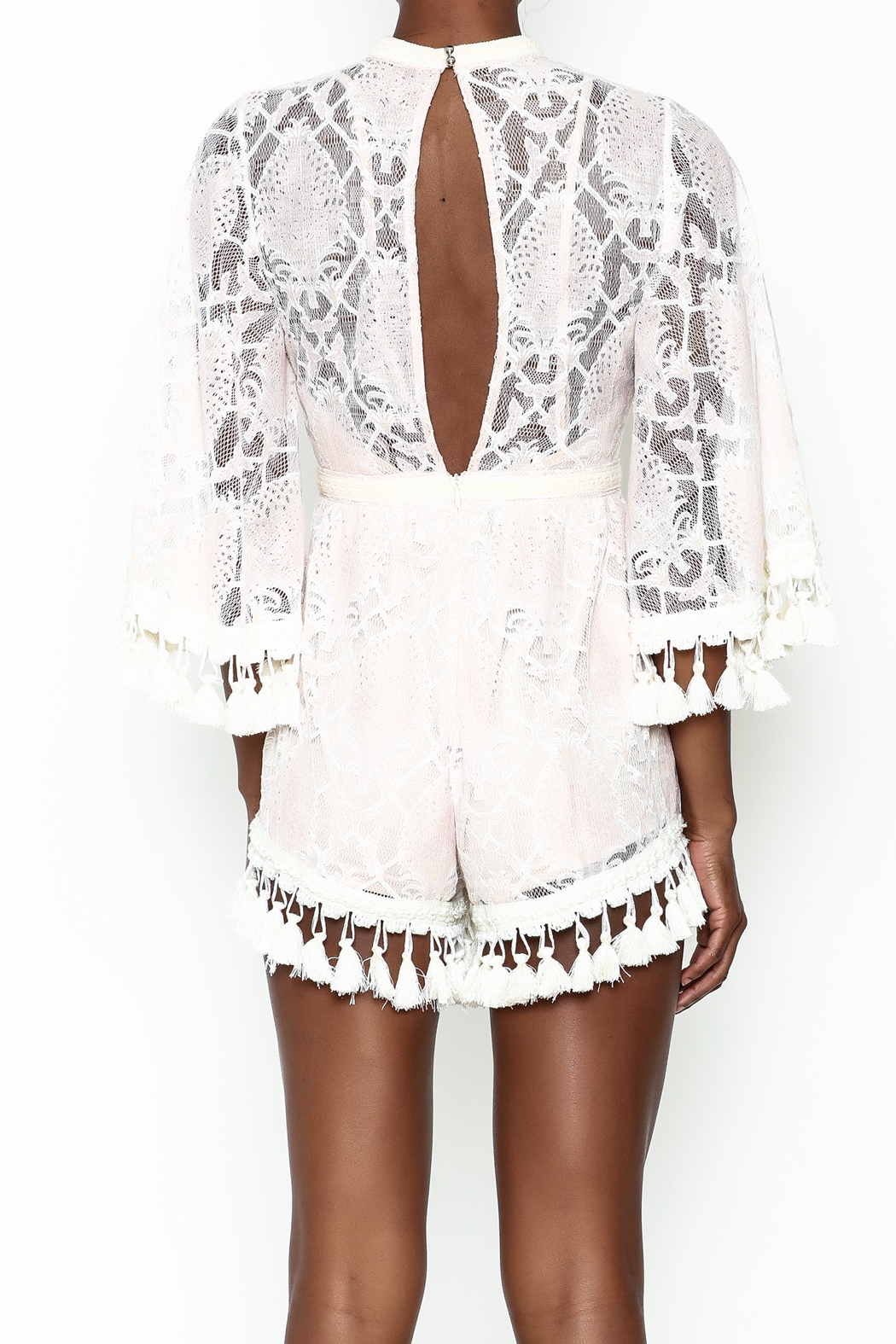 Latiste Crochet Romper - Back Cropped Image
