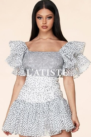 Latiste Dotted Print Dress - Product Mini Image
