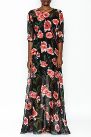Latiste Embellished Mesh Maxi Dress - Front full body