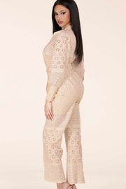 Latiste Eyelet Jumpsuit - Side cropped