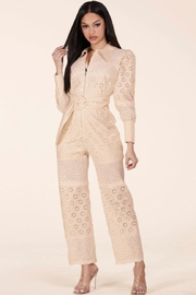 Latiste Eyelet Jumpsuit - Front full body