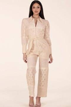 Latiste Eyelet Jumpsuit - Product List Image