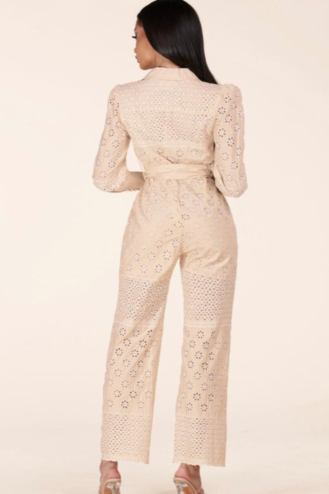 Latiste Eyelet Jumpsuit - Back Cropped Image