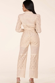 Latiste Eyelet Jumpsuit - Back cropped