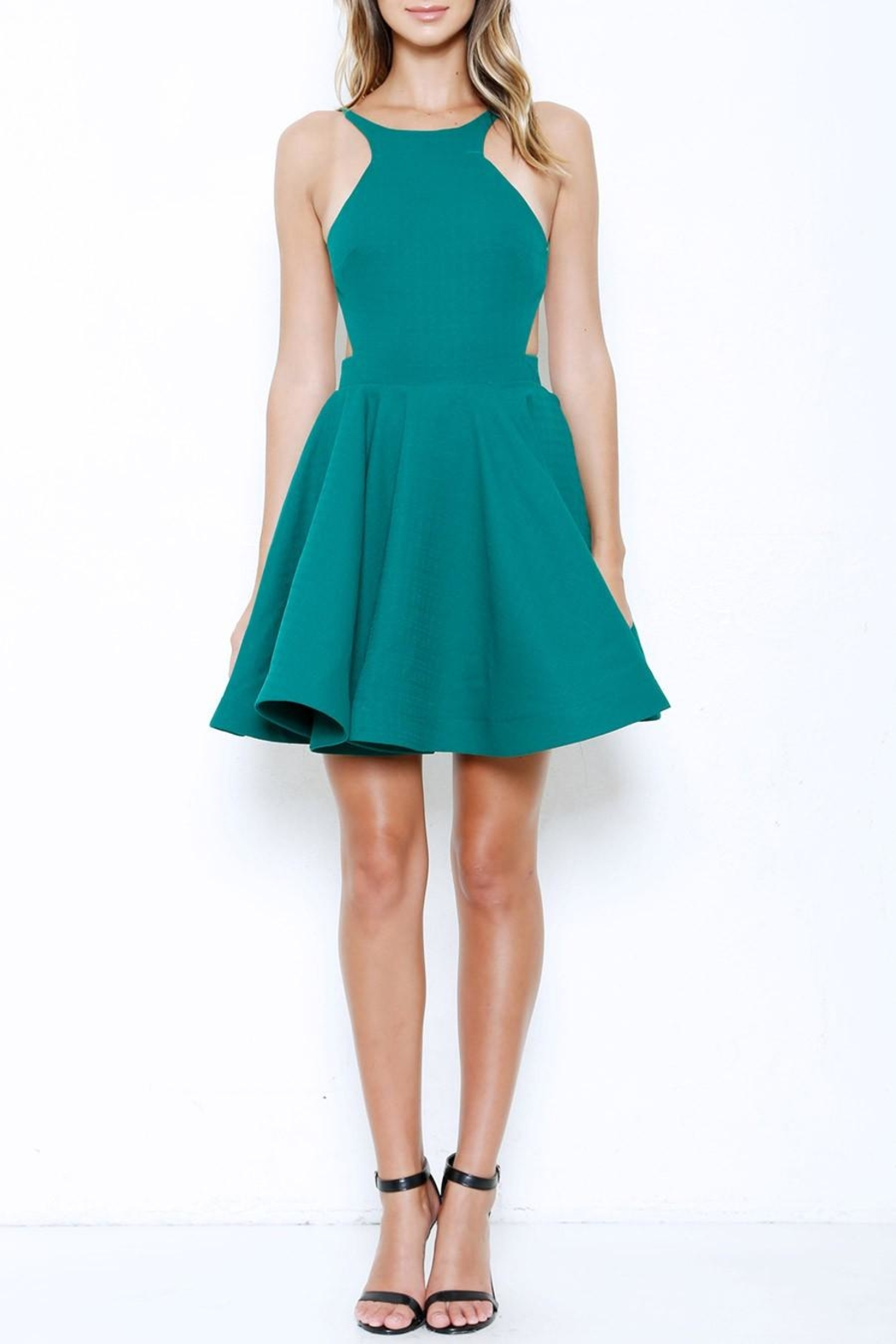 Latiste Flare Backless Dress - Front Cropped Image