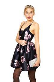 L'atiste Satin Floral Dress - Product Mini Image