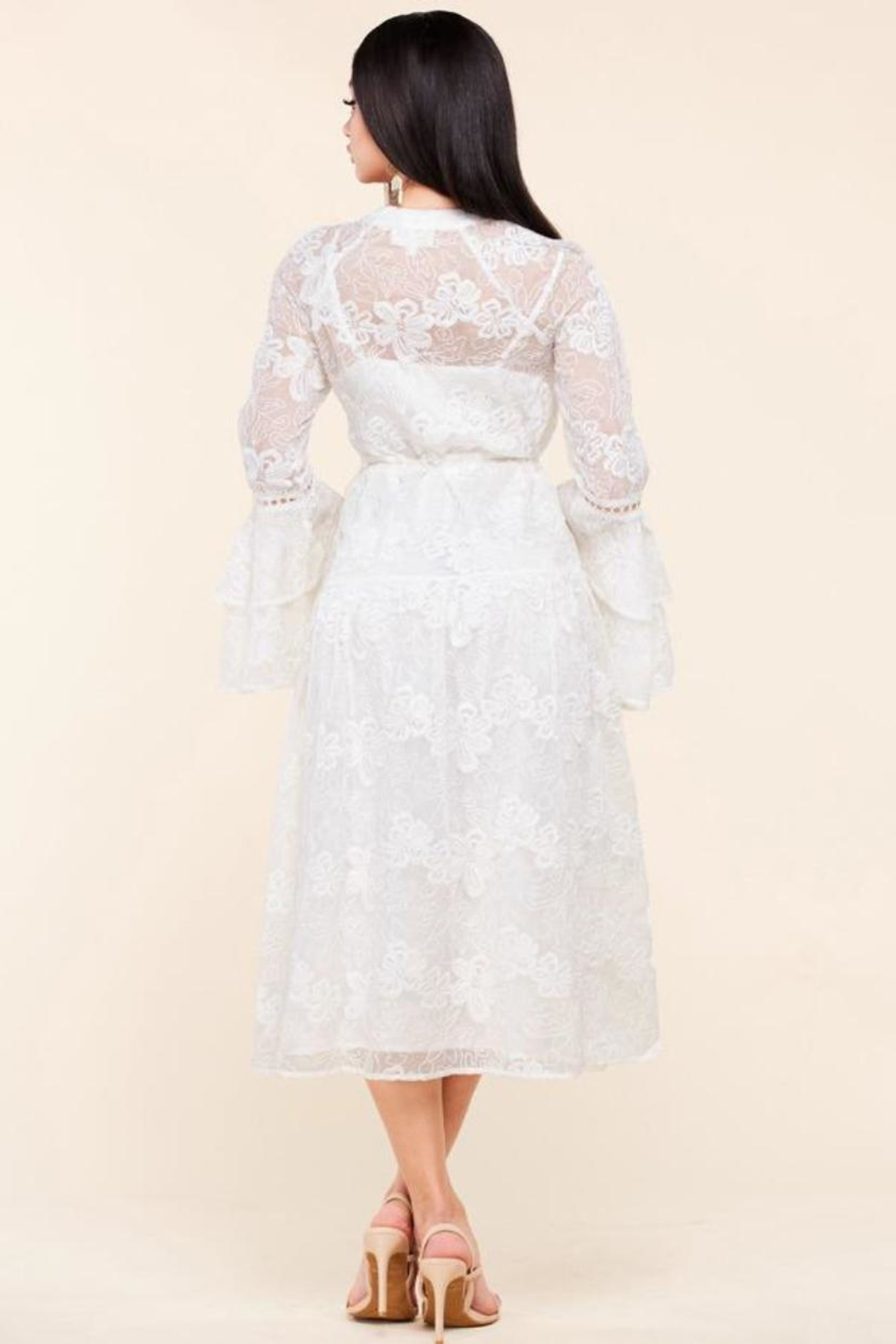 Latiste Floral Embroidered Dress - Front Full Image