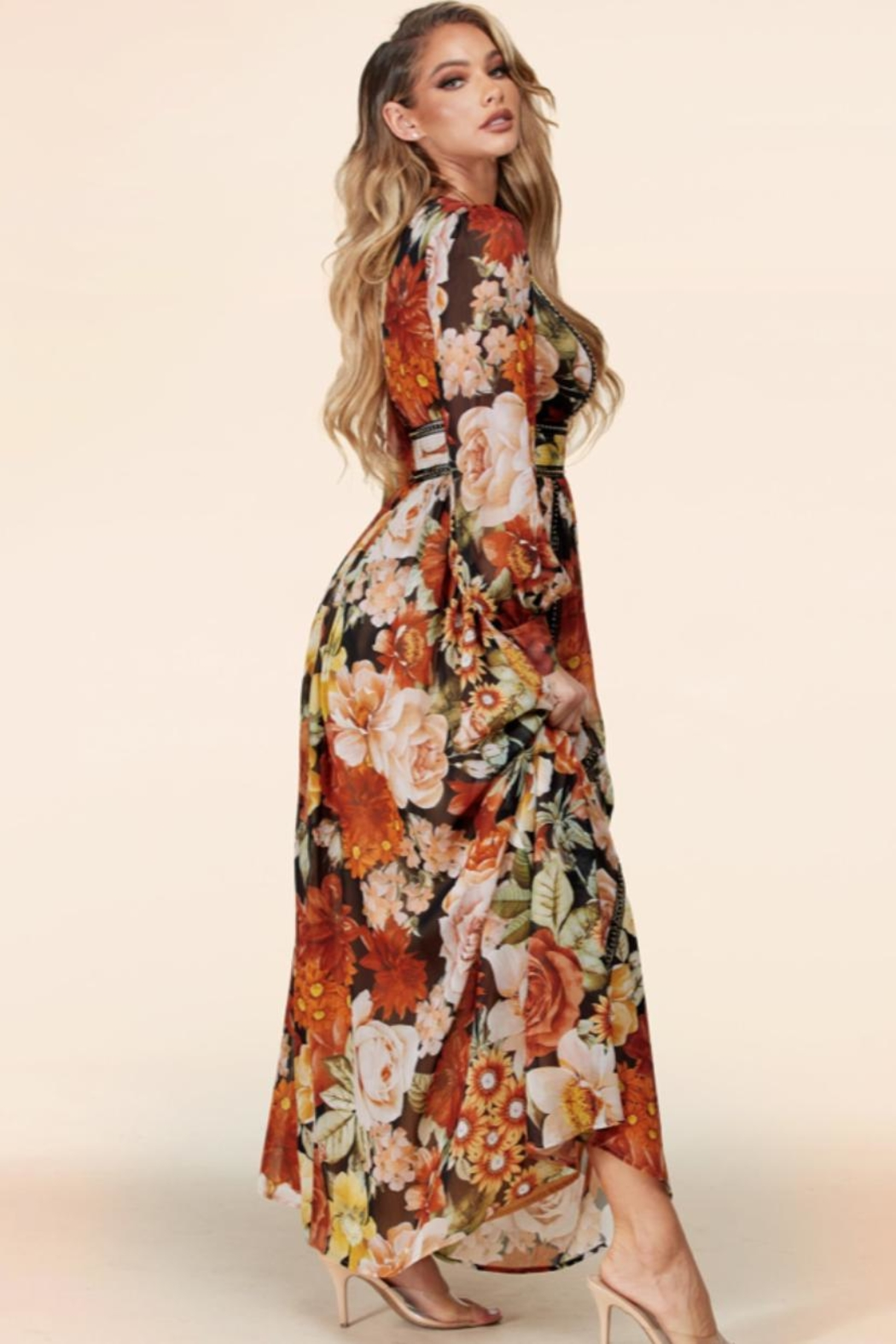 Latiste Floral Maxi Dress - Front Full Image