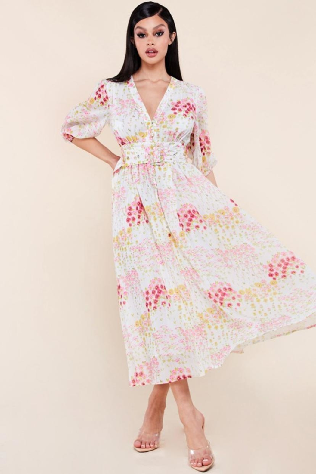 Latiste Floral Midi Dress - Main Image